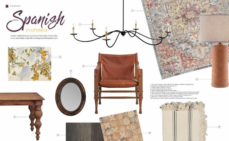 Spanish-Inspired Flooring Décor Furniture Lighting